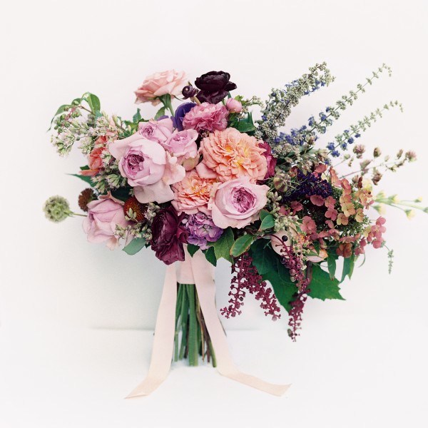 Purple Peach Wedding Ideas Bouquet Flowers Rustic Organic