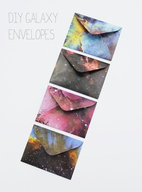 quick craft diy galaxy envelopes