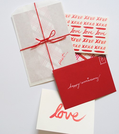 red anniversary card