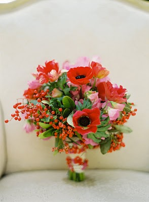 red berry holiday bouquet