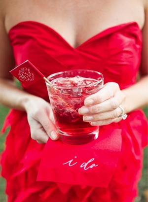 red bridesmaid dress cocktail