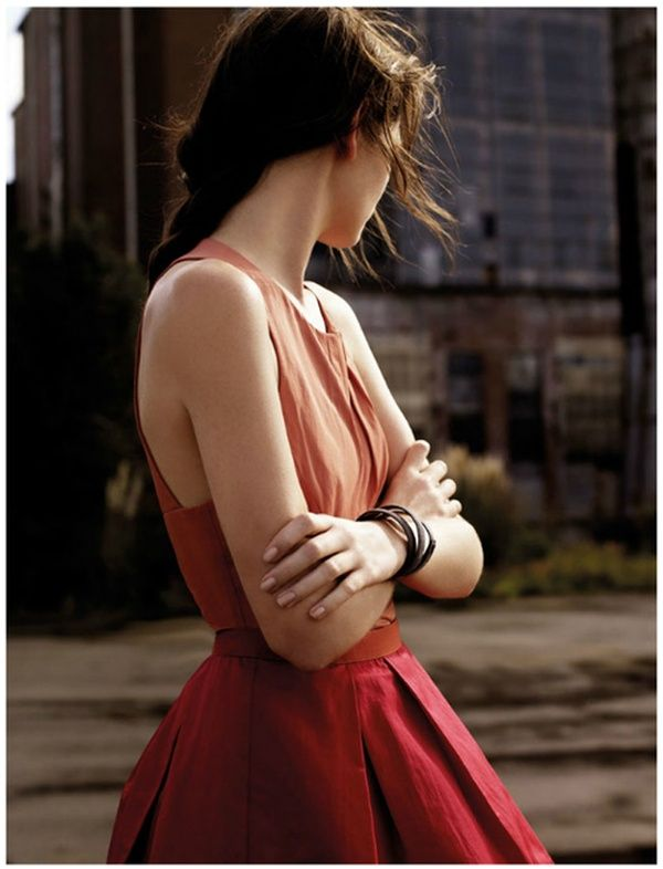 red ombre bridesmaid dress