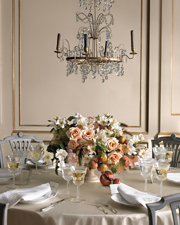 rose gold cream wedding table