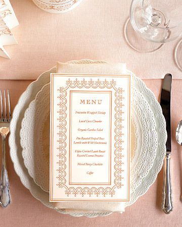 rose gold white scalloped table