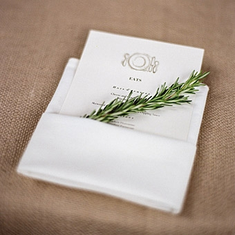 Rosemary Invitation White Once Wed
