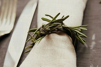rosemary napkin rings