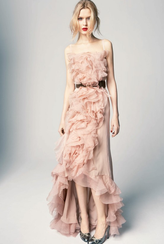 runway rose dress