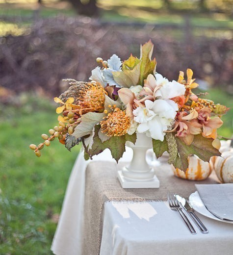 rustic pink flower wedding reception centerpieces