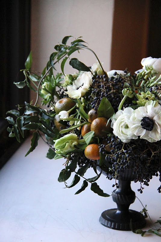 sarah winward centerpiece black berry