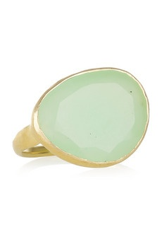 sea green gold ring