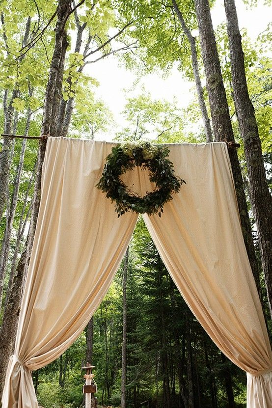 secluded forest wedding