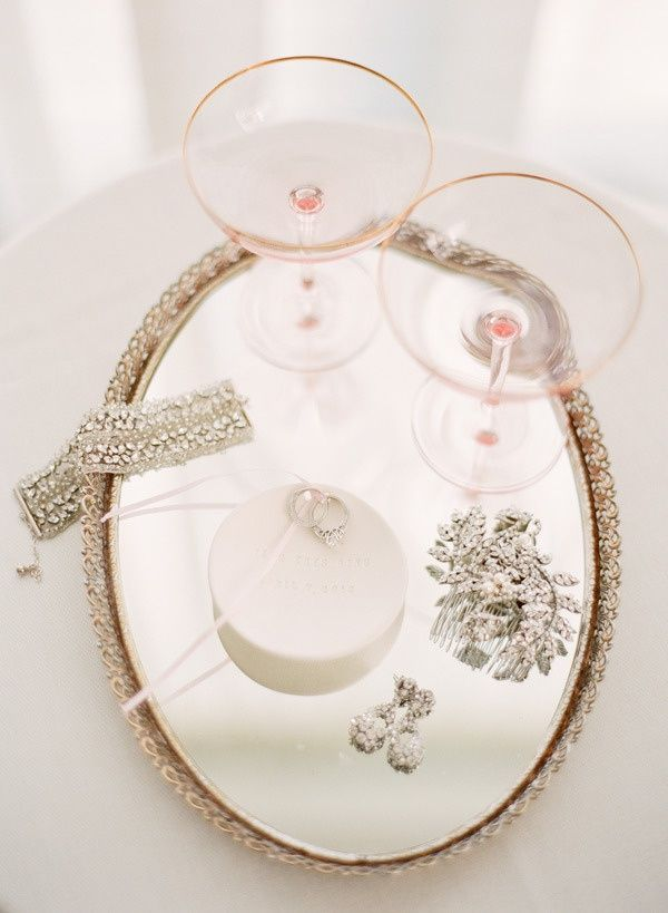 serving tray mirror jewelry