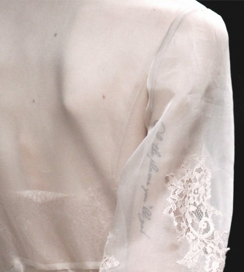 sheer cape sleeves
