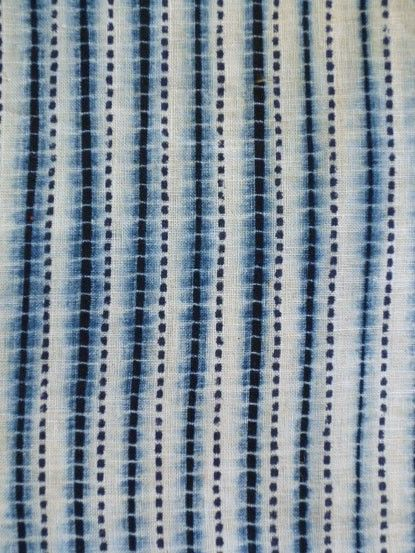 shibori blue fabric