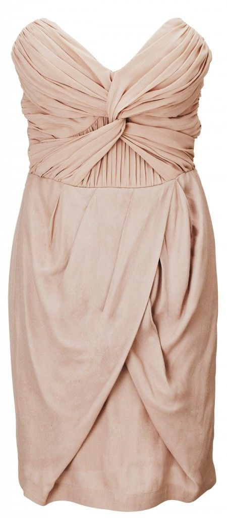 short cream bridesmaid dress