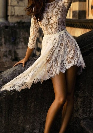 short party lace dress