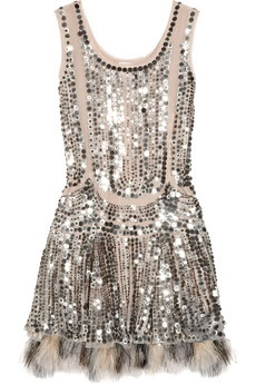 short silver sequined dress