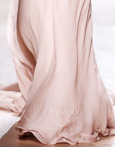 silk pink wedding gown