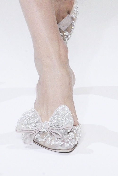 silver bow heels