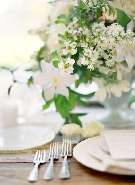silver fork table setting