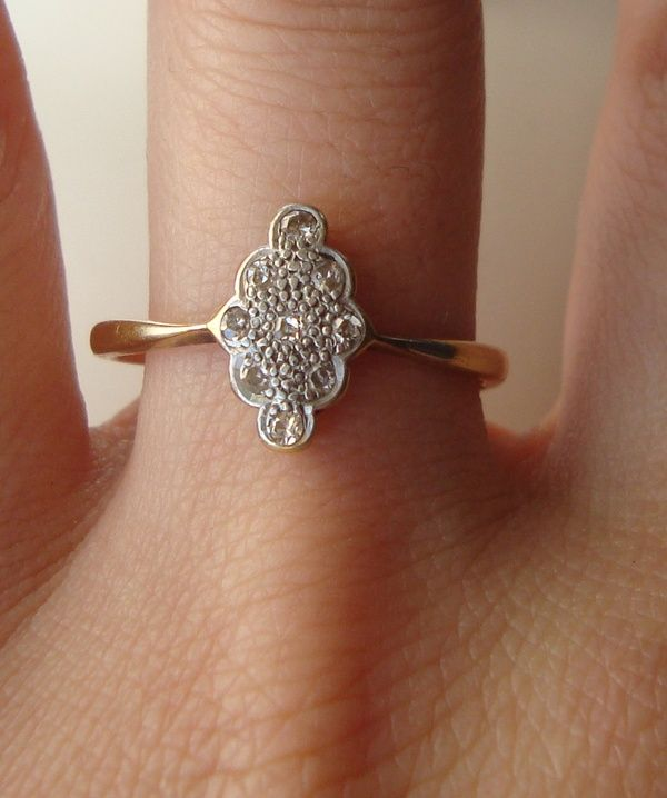 silver ornate antique ring