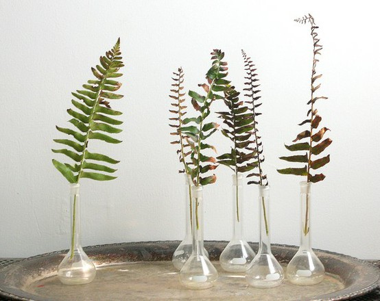 simple fern wedding reception centerpieces