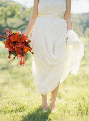 simple red bouquet field