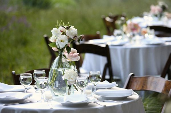 Simple wedding centerpieces once wed simple wedding centerpieces junglespirit Images