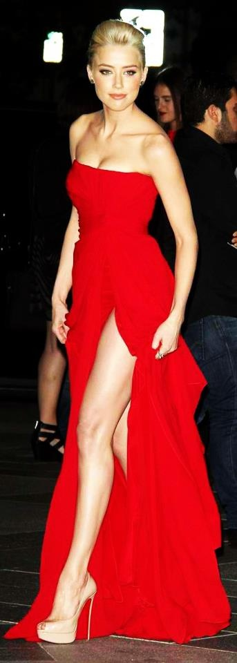 slit red dress