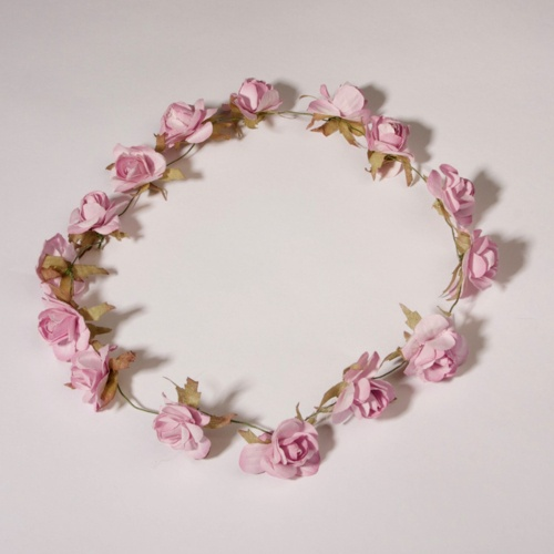 small pink flower halo