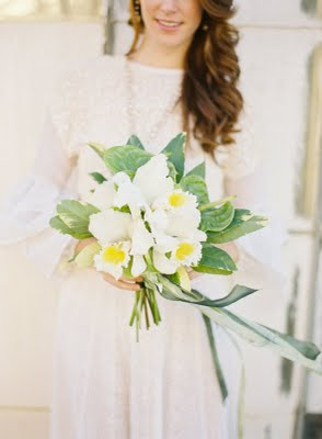 soft yellow green bouquet