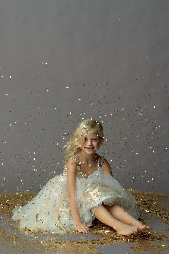 sparkle sweet flower girl