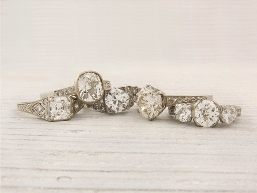 sparkles white gold diamond rings