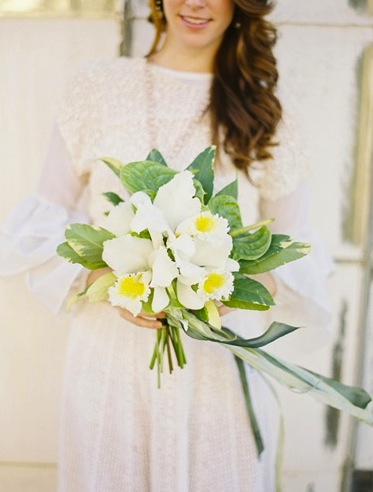 Spring Yellow White Bridal Bouquet