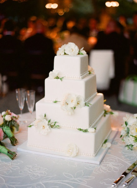 square-white-floral-wedding-cake