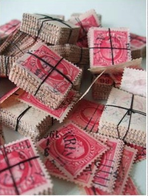stamps pink
