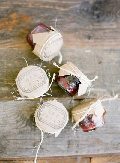 strawberry jams wedding favors