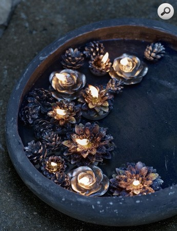 succulent flower floating candles