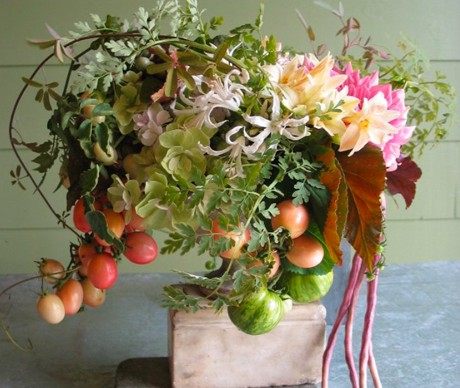 summer fruit wedding centerpiece