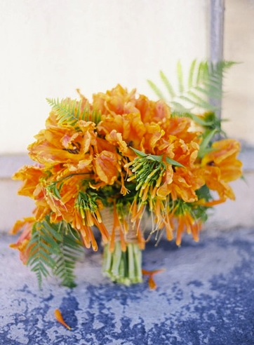 Summer Orange Bridal Bouquet
