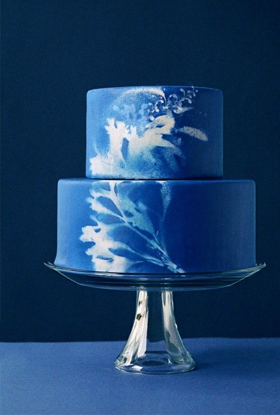 sunprint wedding cake