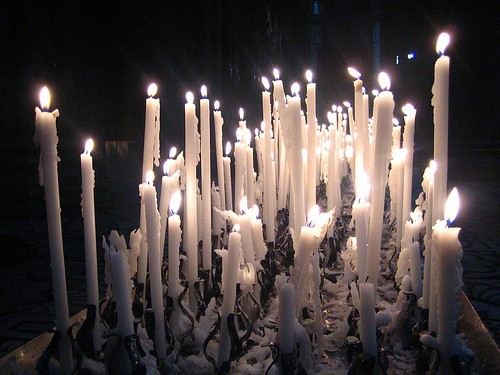 tall candle stick cluster