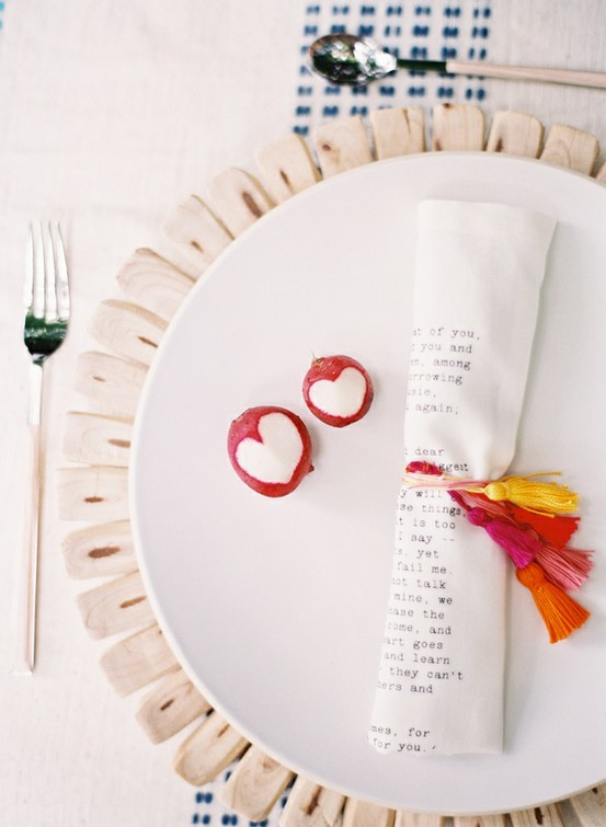 tassel wedding place setting ideas radish