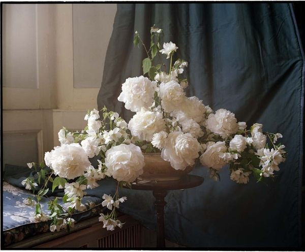 thick white blooms centerpiece
