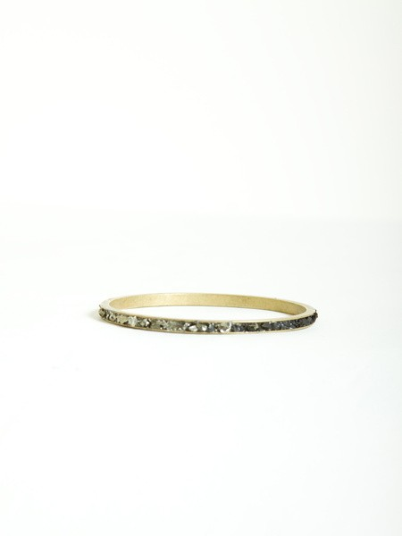 thin stone wedding band
