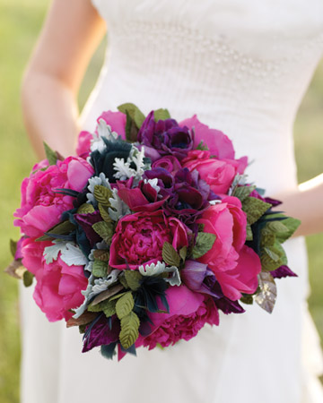 tight purple bouquet