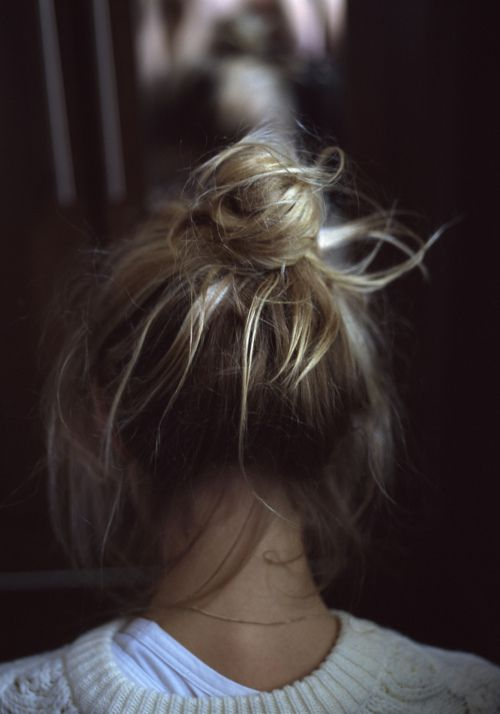 top blonde bun