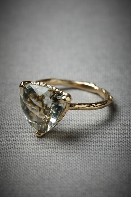 triangular stone ring