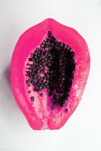 tropical pink fruit