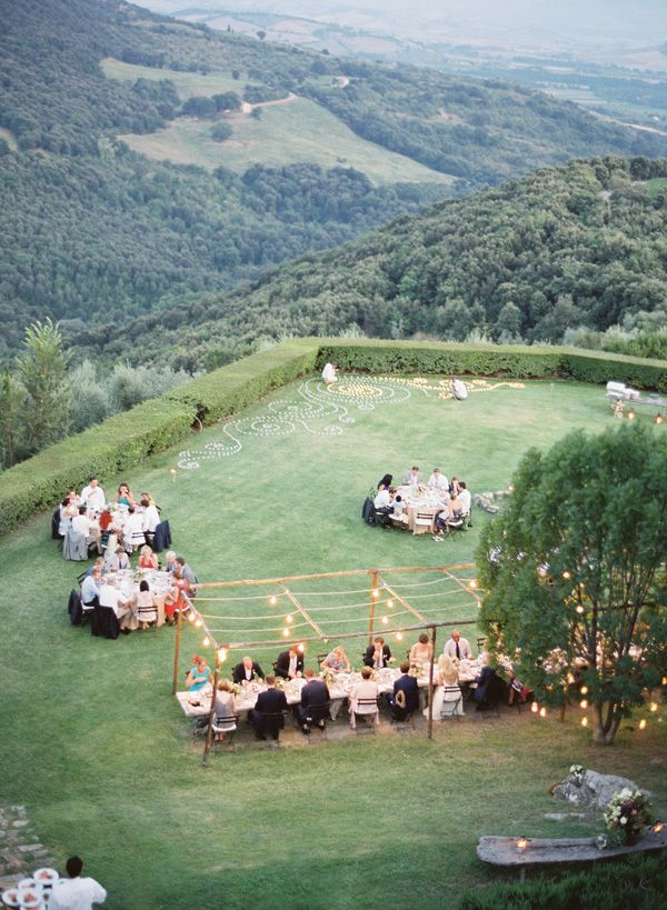 tuscany wedding reception